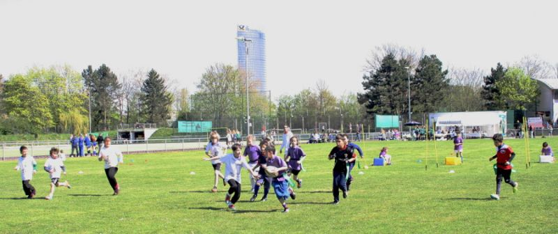 Kinderrugby-Training im BTHV